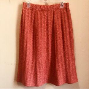 NWT St. John Collection Terracota Wool Blend Skirt